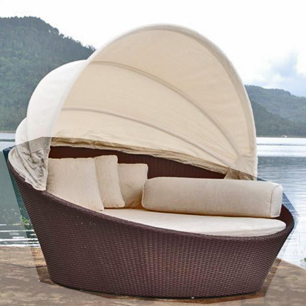 Outdoor Wicker Without Canopy Bed - Tulip