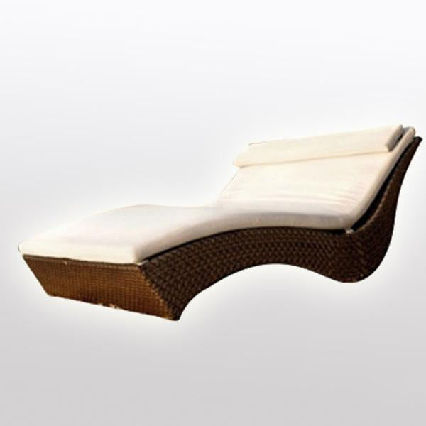 Outdoor Wicker Sun Lounger - Hawaii