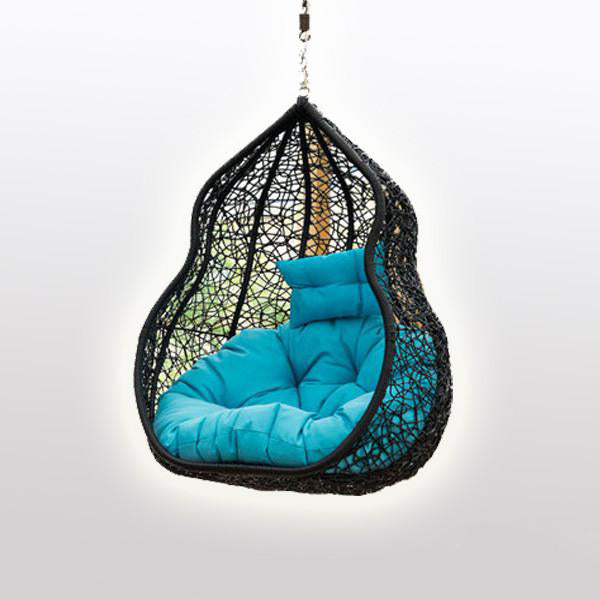 Outdoor Wicker - Swing With Stand - Bluebell