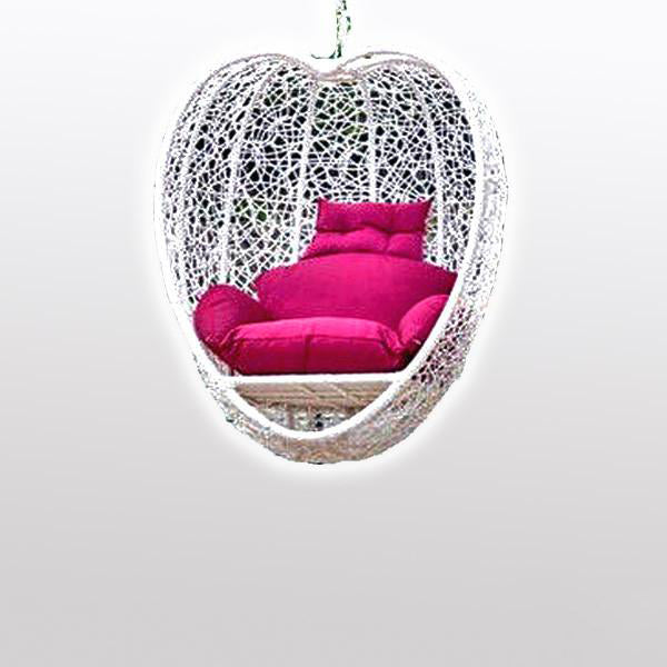Outdoor Wicker - Swing Without Stand - Heart