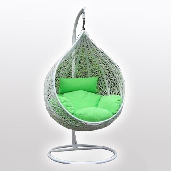 Outdoor Wicker Swing - Spring