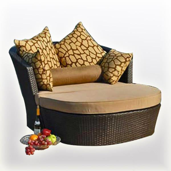 Outdoor Wicker Day Bed - Evening
