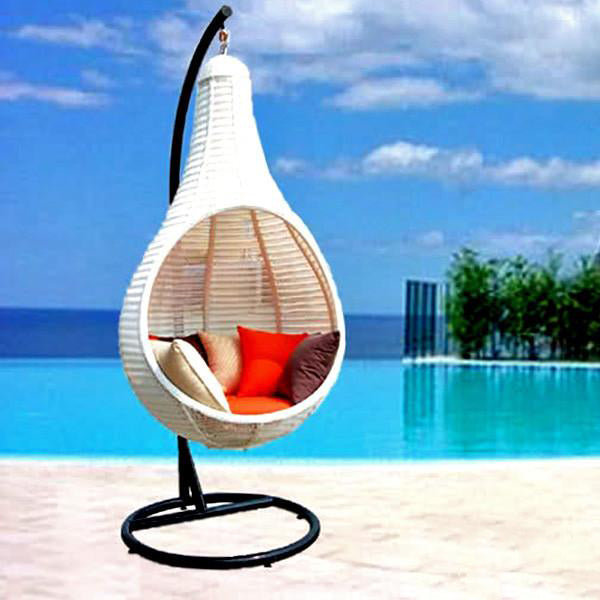 Outdoor Wicker - Swing With Stand - Nest