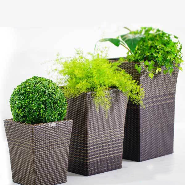 Outdoor Wicker Planter - Blossom
