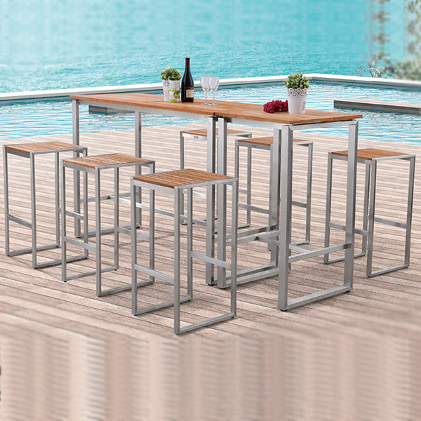 Outdoor Wood & Steel - Bar Set - Aspen