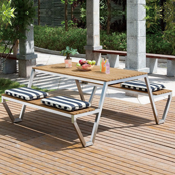 Outdoor Wood & Steel - Dining Set - Exotica