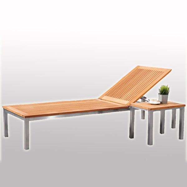 Outdoor Wood & Steel - Sun Lounger - Longhi