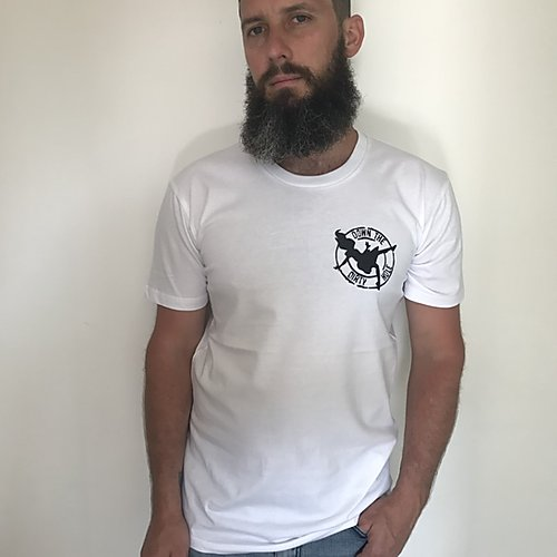 BASIC- Down The Dirty Hole Tee White