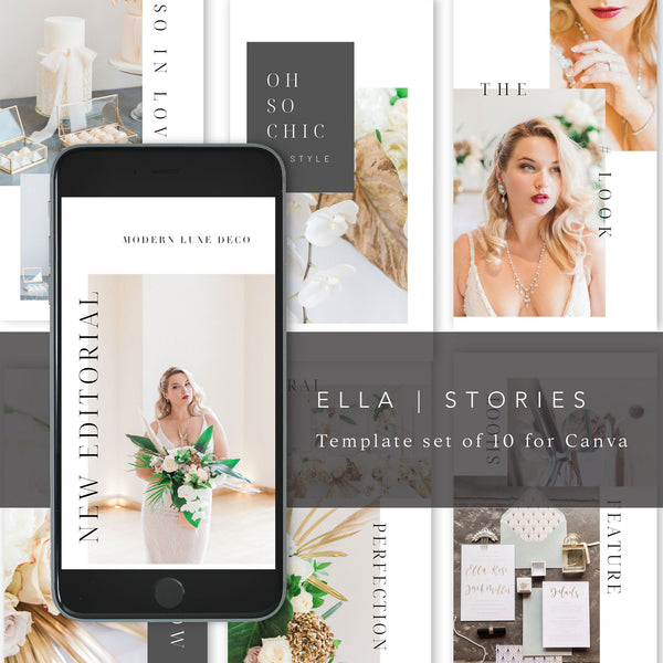 Ella Stories | 10 Story Graphic Templates for Canva