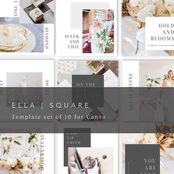 Ella Square Instagram Templates | Canva Templates