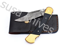 Damascus Steel pocket folding Knife - SUSA KNIVES