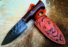 Load image into Gallery viewer, handmade d2 tool steel  hunting skinner knife bushcarft - SUSA KNIVES