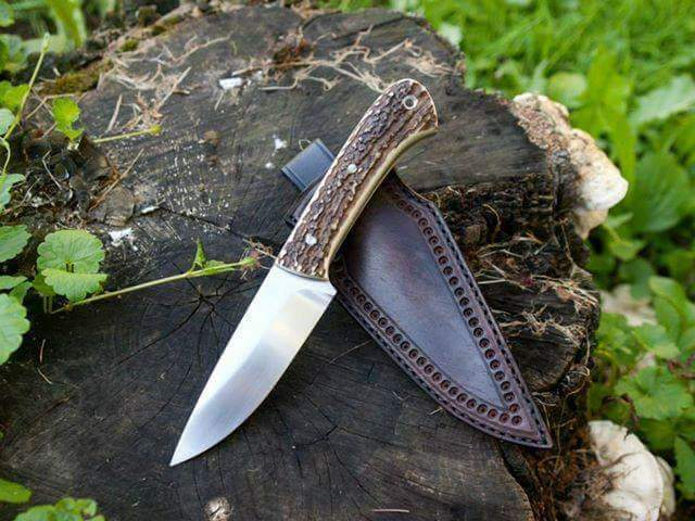 HANDMADE  CARBON STEEL SKINNER KNIFE - SUSA KNIVES