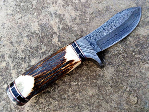 HANDMADE DAMASCUS STEEL HUNTING KNIFE - SUSA KNIVES