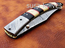 Load image into Gallery viewer, Hand Made Damascus Steel Hunting knife/Pocket Knife/Anniversary gift/gift for him/Birthday gift/gift for her - SUSA KNIVES