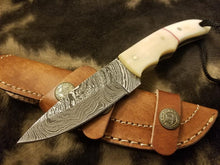 Load image into Gallery viewer, Damascus Steel Bush Craft with Bone handle - SUSA KNIVES