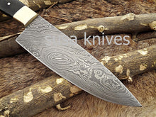 Load image into Gallery viewer, Handmade Damascus Steel Chef Knife Boxing day sale, Heartwarming gift, Wedding gift, Gift for her, Anniversary gift, Personalized gift - SUSA KNIVES
