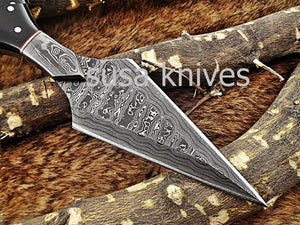 A Beautiful Custom Made Damascus Skinner Knife/Halloween Gift/Black Friday Gift/ Thanksgiving Gift/Christmas Gift - SUSA KNIVES