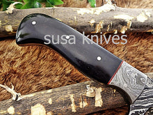 Load image into Gallery viewer, A Beautiful Custom Made Damascus Skinner Knife/Black Friday Gift/ Thanksgiving Gift/Christmas Gift - SUSA KNIVES