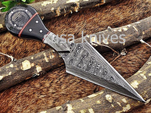 Load image into Gallery viewer, A Beautiful Custom Made Damascus Skinner Knife/Halloween Gift/Black Friday Gift/ Thanksgiving Gift/Christmas Gift - SUSA KNIVES