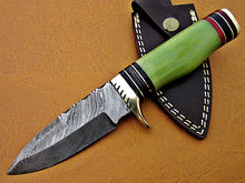 Load image into Gallery viewer, Custom Handmade Damascus Steel Fixed Blade Hunting Knife - SUSA KNIVES