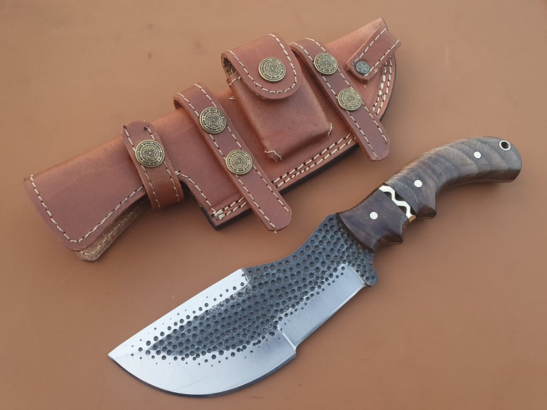 Custom Handmade Custom Handmade Carbon Steel Tracker Hunting Knife - SUSA KNIVES