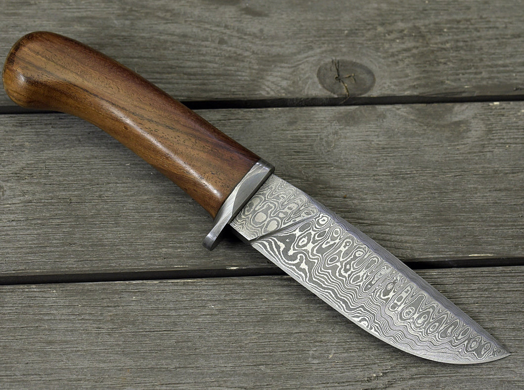DAMASCUS STEEL BOWIE KNIFE, 10.0