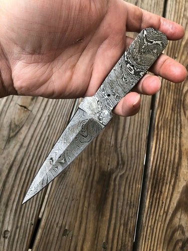 Custom HAND FORGED DAMASCUS STEEL Blank BLADE FULL TANG Dagger Knife - SUSA KNIVES