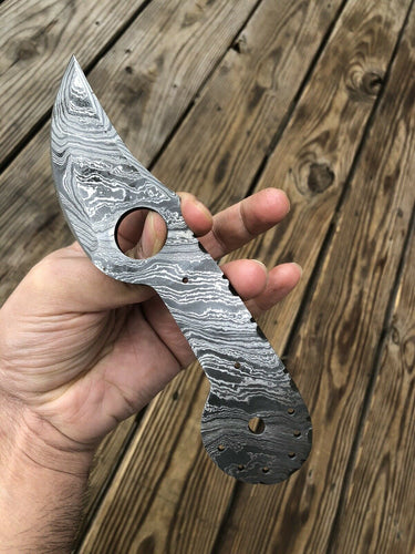 HAND FORGED DAMASCUS STEEL Hunting Skinner Knife BLANK BLADE FULL TANG' - SUSA KNIVES