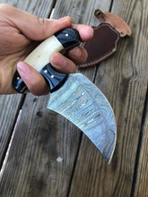 Load image into Gallery viewer, CUSTOM HAND FORGED DAMASCUS COMBAT DAGGER Boot KNIFE - SUSA KNIVES