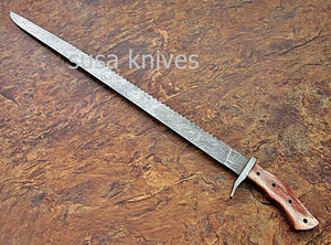 CUSTOM HAND MADE DAMASCUS STEEL HUNTING SWORD KNIFE. - SUSA KNIVES