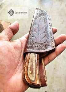 "HAND FORGED DAMASCUS Overall Length:  9"" Inches - SUSA KNIVES"