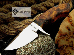 CUSTOM MADE, MIRROR POLISHED 440 C ,OUTDOOR JUNGLE HUNTING / FIGHTING CLAW KNIFE - SUSA KNIVES