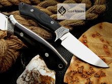 Load image into Gallery viewer, , HANDMADE ENGRAVED, HUNTING/FIGHTING KNIFE  440C MIRROR POLISHED - SUSA KNIVES