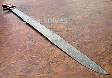 Load image into Gallery viewer, CUSTOM HAND MADE DAMASCUS STEEL HUNTING SWORD KNIFE. - SUSA KNIVES