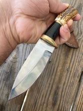 Load image into Gallery viewer, CUSTOM HAND FORGED D2 STEEL Hunting KNIFE W/ STAG HANDLE - SUSA KNIVES