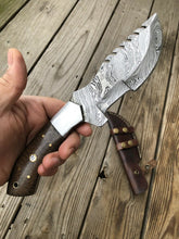 Load image into Gallery viewer, CUSTOM HAND FORGED DAMASCUS STEEL TRACKER Hunting KNIFE - SUSA KNIVES