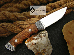 HANDMADE OUTCLASS ENGRAVED, HUNTING/FIGHTING CLAW KNIFE - SUSA KNIVES