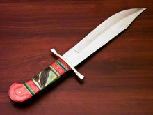 Load image into Gallery viewer, Amazing Custom Handmade D2 Steel Bowie Knife | Sheath Stained Camel Bone Handle - SUSA KNIVES
