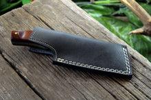 Load image into Gallery viewer, MINI POCKET CLEAVER HAND FORGED DAMASCUS STEEL CUSTOM HUNTING KNIFE WITH SHEATH - SUSA KNIVES