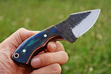 Load image into Gallery viewer, Custom hand Forged Railroad Spike Carbon Steel Fixed Blade Knife Q - SUSA KNIVES