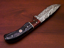 Load image into Gallery viewer, BEAUTIFUL CUSTOM HAND MADE DAMASCUS STEEL FULL TANG KNIFE-HARD WOOD - SUSA KNIVES