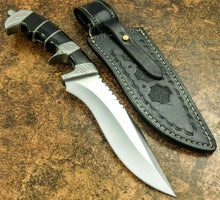 "Load image into Gallery viewer, Amazing Custom Handmade D2 Steel Hunting Knife | Sheath "" Buffalo horn Handle - SUSA KNIVES"
