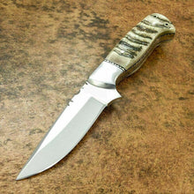 Load image into Gallery viewer, CUSTOM HAND MADE D2 HUNTING KNIFE - FULL TANG - SHEEP HORN HANDLE - SUSA KNIVES
