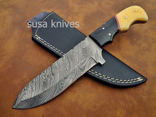 Load image into Gallery viewer, Custom hand crafted Damascus steel Moqen,s Skinner Knife (Special Sale) - SUSA KNIVES