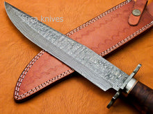 Load image into Gallery viewer, Handmade Damascus Steel Bowie Knive - Rose Wood Handle - SUSA KNIVES