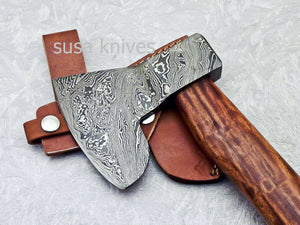 "New Beautiful Handmade Damascus Steel AXE ""UNIQUE AXE"" Limited Edition - SUSA KNIVES"