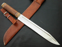 "Load image into Gallery viewer, Amazing Custom Handmade D2 Steel Hunting Knife "" Natural Rose Wood Handle - SUSA KNIVES"