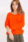 Fluffy Sweater met v-hals - Oranje