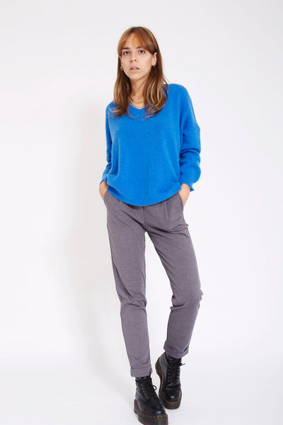 Rainbow Sweater met v-hals - Cobalt
